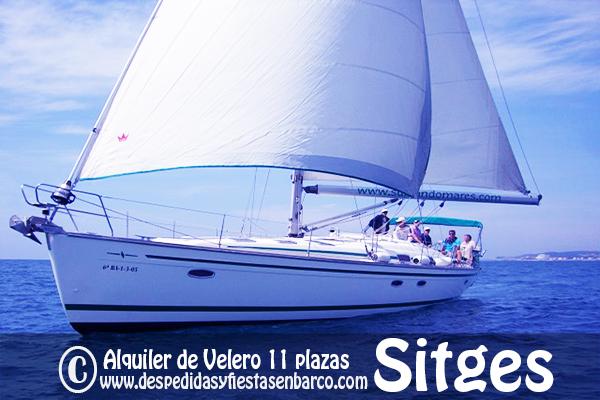 Alquiler de Barcos Veleros para fiestas privadas en Sitges para despedidas y fiestas