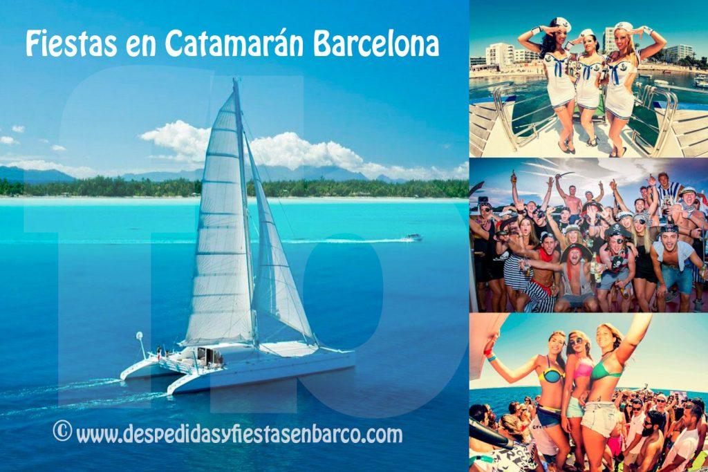 Despedidas y fiestas en Barco Catamaran en Barcelona