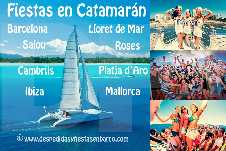 Disfruta de una fiesta en barco con salidas desde Barcelona, Salou, Cambrils, Lloret de Mar, Roses, Platja d'Aro, Empuriabrava y Ibiza