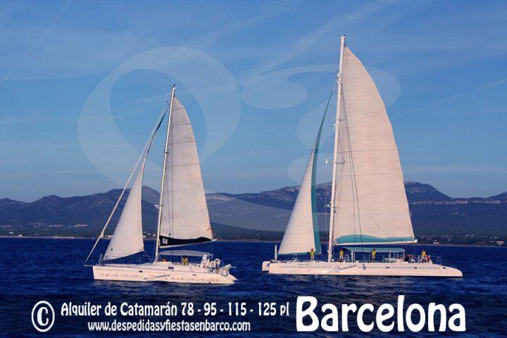 Alquiler de Barcos tipo Catamarán para fiestas privadas en Barcelona